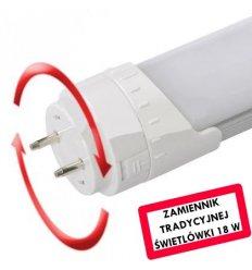 Świetlówka Liniowa LED obracana T8 9W 60cm