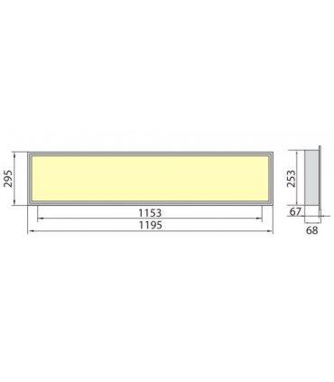 Panel LED OREGA LINX 120 40W barwa naturalna