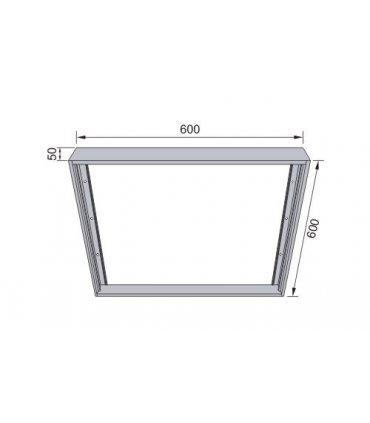 Ramka natynkowa do paneli LED XELENT 60