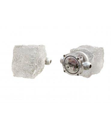 Granit transparentny 8x9cm Świecąca kostka brukowa LED