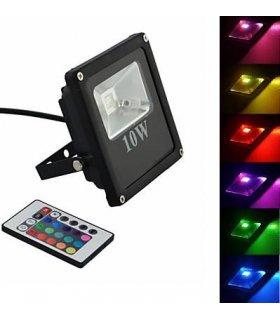 Naświetlacz LED 10W RGB SLIM Wodoodporny na pilota