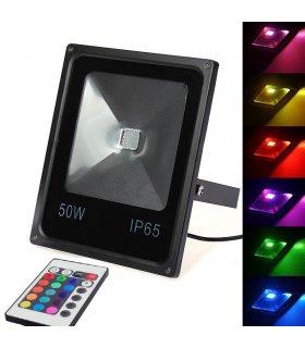 Naświetlacz LED 50W RGB Eco Wodoodporny na pilota