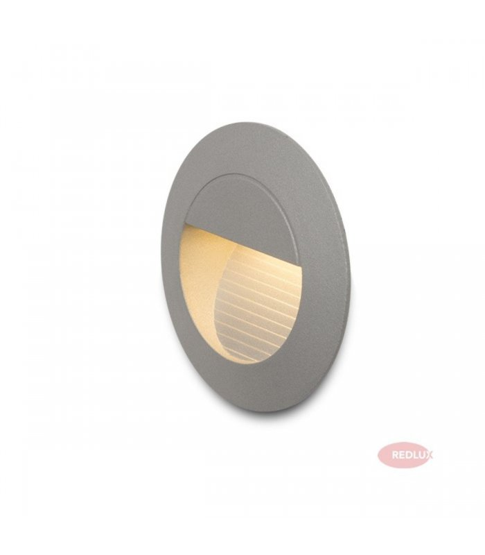 MARCO wpuszczana srebrnoszara LED 3W IP54 REDLUX