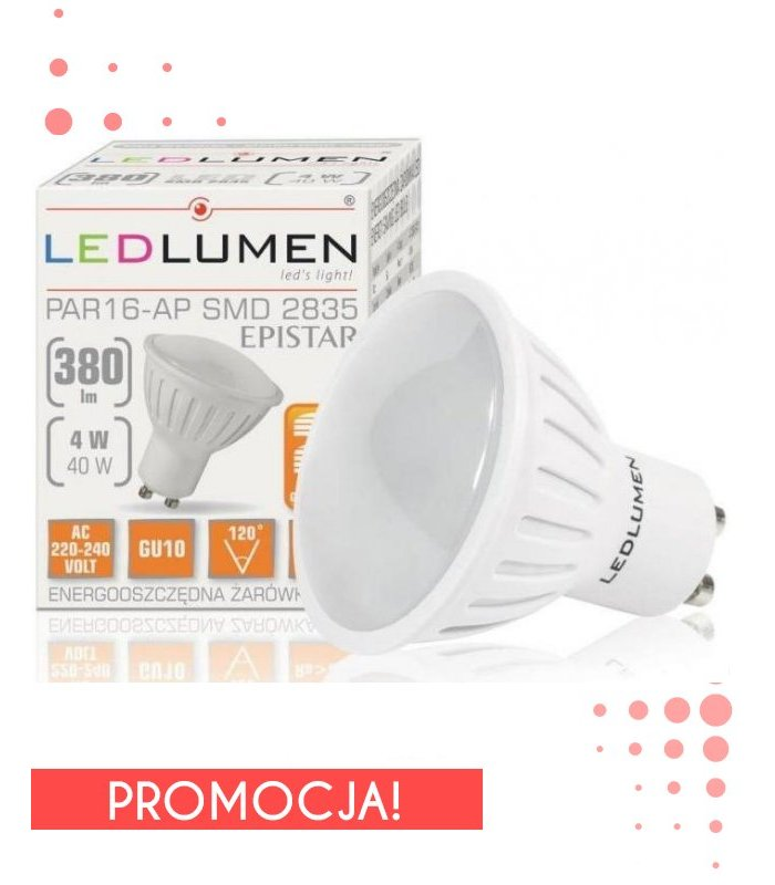 Żarowka LED 4W GU10 380lm