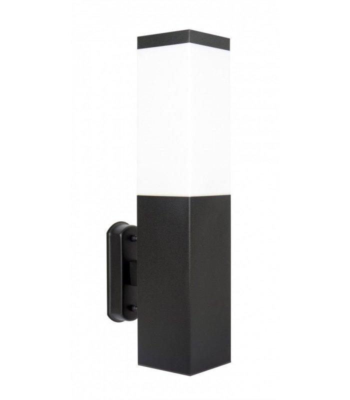 Kinkiet INOX kwadratowa BLACK SS802-A BL