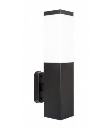 Kinkiet INOX kwadrat Czarny SS802-A BL