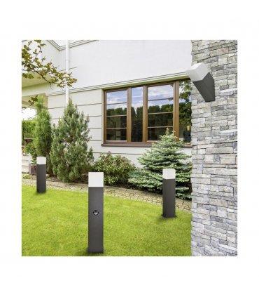 Kinkiet ogrodowy aluminiowy POLUX New York GLA505QU1GFSMSK 1xE27 skośny