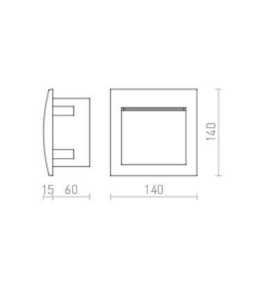 GORDIQ M LED 3W wpuszczana biała IP65