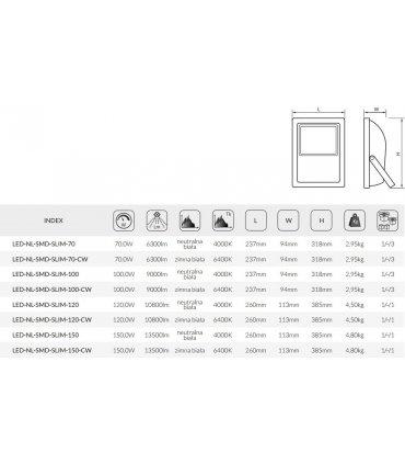 Naświetlacz LED 150W SMD Wodoodporny Przemysłowy