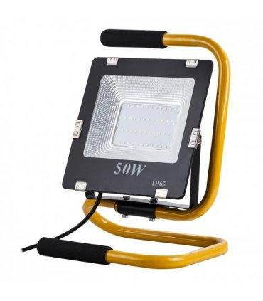 Naświetlacz LED 50W IP65 przenośny z uchwytem