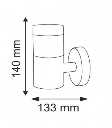 kinkiet ogrodowy inox LED POLUX Bretania2 GLM0007AUPSS-15DW prosty satynowy