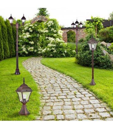 Lampa ogrodowa aluminiowa POLUX PARIS2 AL832S2WWAW2 2in1 stojąca 2m wiśnia potrójna