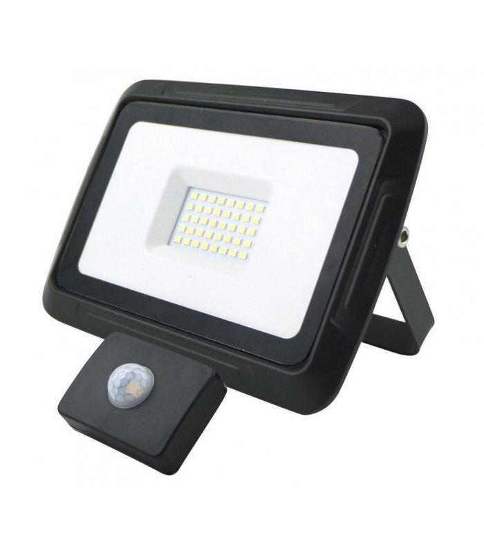Naświetlacz LED 30W PIXEL Czarny IP65 z czujnikiem zmierzchowo-ruchowym