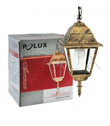 Lampa wisząca ogrodowa POLUX MILANO ALU4118HP patyna