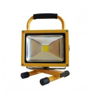 Naświetlacz LED 20W bezprzewodowy z akumulatorem (230V AC / 12V DC)