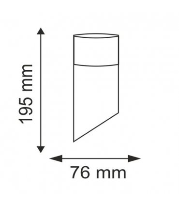 Kinkiet ogrodowy inox LED POLUX CRYSTAL2 GLM00052UPSS-30DW skośny satynowy