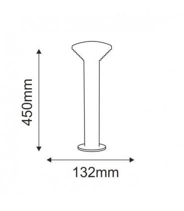 Lampa ogrodowa inox LED POLUX PIRAMIDA GLM0011PSH-44SS 30DW niska satynowa