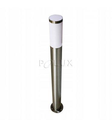 Lampa ogrodowa inox POLUX LIVIA CIE014-100 tuba wysoka satynowa