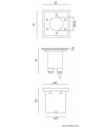 Lampa najazdowa PABLA M4030