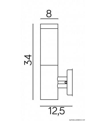 Kinkiet INOX Kwadrat SS802-A