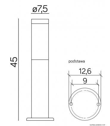 Lampa INOX 450 ST-022 450