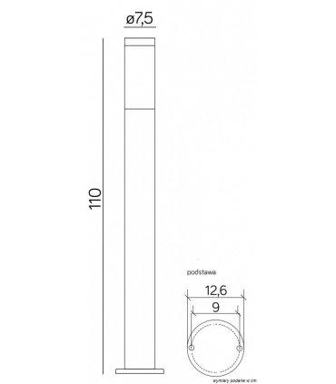 Lampa INOX 1100 ST-022 1100