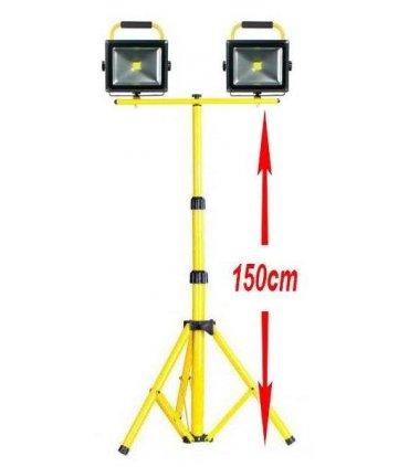 2 x 50W LED bezprzewodowe na statywie 1,5m