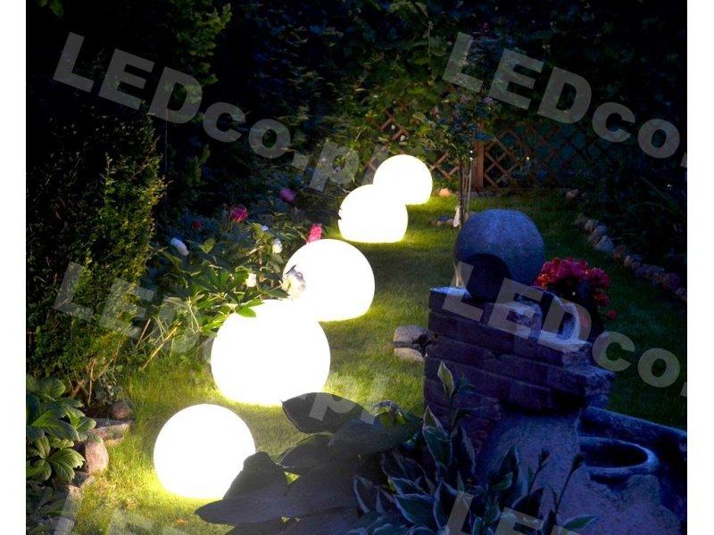 Lampa Ogrodowa Podświetlana Kula Terra 35cm