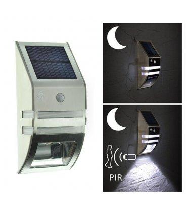 Kinkiet Solarny Fasadowy LED BIS (SOL WL 02007) + czujnik zmierzchowo-ruchowy