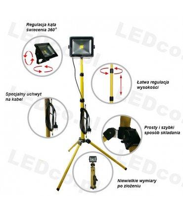Naświetlacz LED na statywie 180cm (Tripod)