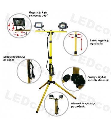 2 x Naświetlacz LED na podwójnym statywie 180cm (Tripod)