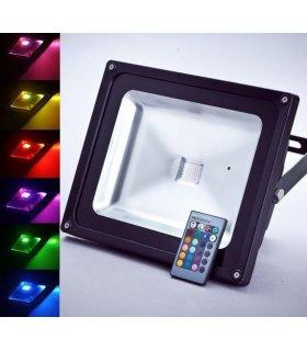 Naświetlacz LED 50W RGB Pro Wodoodporny na pilota