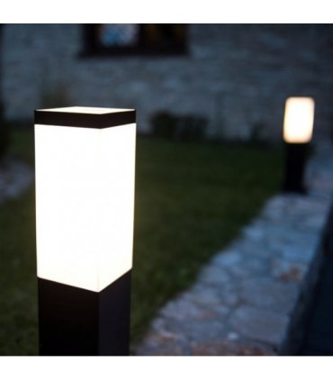 Lampa INOX KWADRAT 450 Czarna