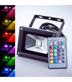 Naświetlacz LED 10W RGB Pro Wodoodporny na pilota