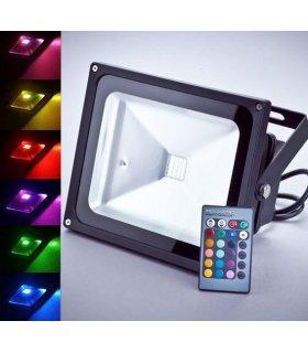 Naświetlacz LED 20W RGB Pro Wodoodporny na pilota