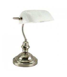 Lampa biurkowa BANKIERSKA Biała