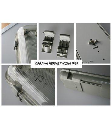 Oprawa hermetyczna IP65 150cm podwójna