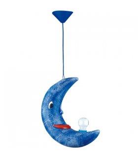Lampa wisząca KSIĘŻYC Niebieska