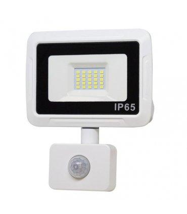 Naświetlacz LED 10W PIXEL Biały z czujnikiem zmierzchowo-ruchowym