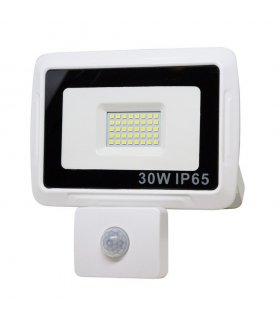 Naświetlacz LED 30W PIXEL Biały z czujnikiem zmierzchowo-ruchowym