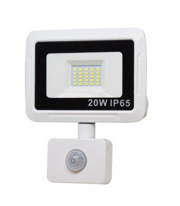 Naświetlacz LED 20W PIXEL Biały z czujnikiem zmierzchowo-ruchowym