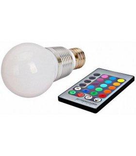 Żarówka LED E27 RGB 5W na pilota