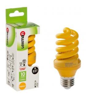 Żarówka Energooszczędna Żółta E27 15W