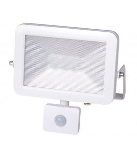 Naświetlacz LED 20W SUPER SLIM Biały z czujnikiem zmierzchu i ruchu Wodoodporny