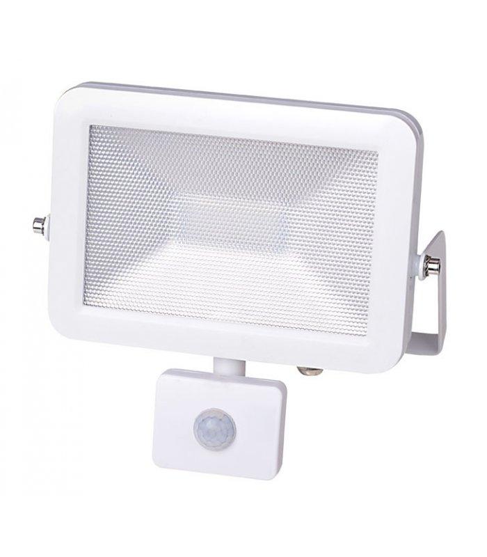 Naświetlacz LED 20W ULTRA SLIM Biały z czujnikiem zmierzchu i ruchu Wodoodporny