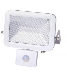 Naświetlacz LED 10W ULTRA SLIM Biały z czujnikiem zmierzchu i ruchu Wodoodporny
