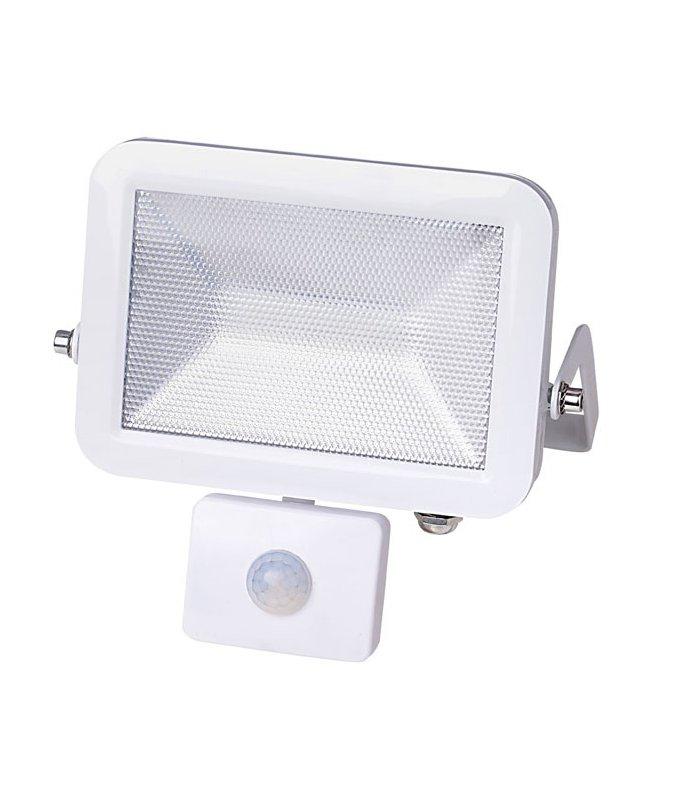 Naświetlacz LED 10W SUPER SLIM Biały z czujnikiem zmierzchu i ruchu Wodoodporny