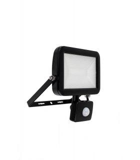 Naświetlacz LED 50W Super SLIM Czarny z czujnikiem zmierzchu i ruchu Wodoodporny