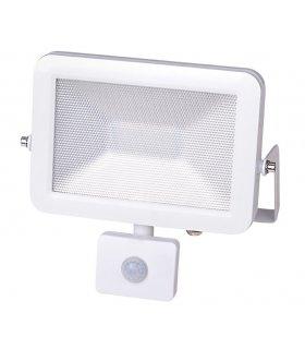 Naświetlacz LED 50W SUPER SLIM Biały z czujnikiem zmierzchu i ruchu Wodoodporny