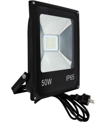 Naświetlacz LED 50W SLIM SMD z kablem + wtyczką
